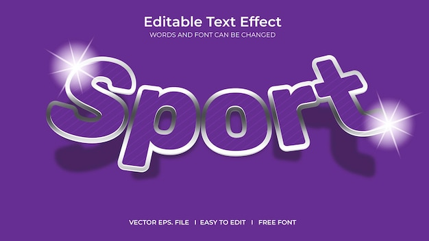 Sport illustrator editable text effect template design