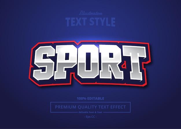 Sport illustrator text effect