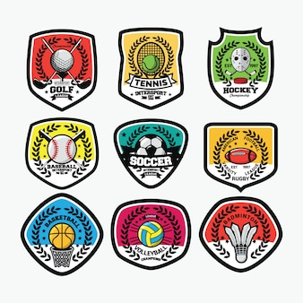スポーツ国際ロゴベクトル