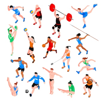 Sport isometric set