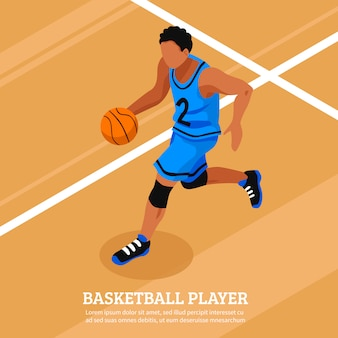 Sport isometric template