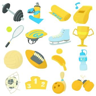 Sport items icons set