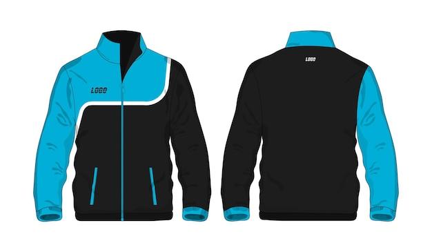 Спортивная куртка синий и черный шаблон для дизайна на белом фоне. векторная иллюстрация eps 10.