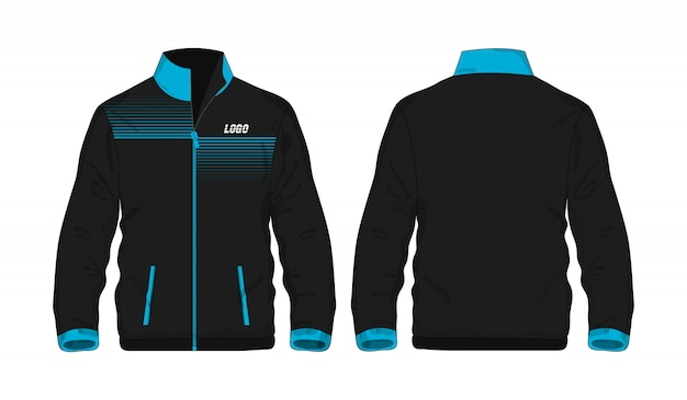 Sport jacket blue and black t illustration