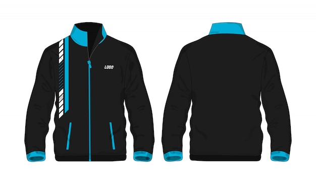 Sport jacket blue and black template for design  .