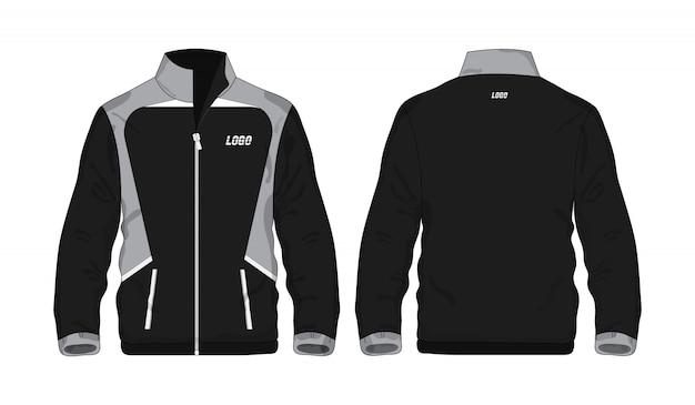 Спортивная куртка серая и черная иллюстрация