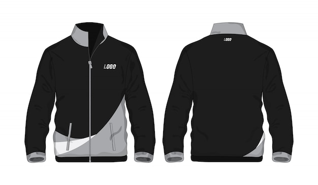 Sport jacket gray and black template shirt for design on white background. vector illustration eps 10.
