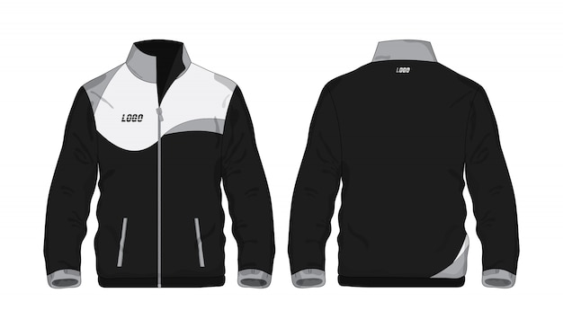 Sport jacket gray and black template shirt for design on white background.