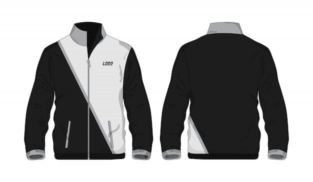 Sport jacket gray and black template shirt for design  .
