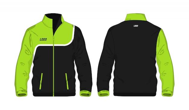 Спортивная куртка зелено-черная иллюстрация