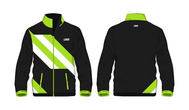 スポーツジャケットの緑と黒のtイラスト