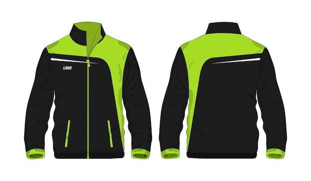 Спортивная куртка зеленый и черный шаблон