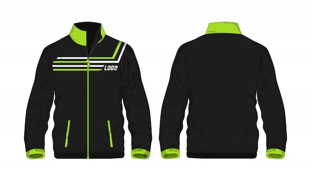 Sport jacket green and black t illustration