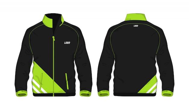 Sport jacket green and black template for design on white background. vector illustration eps 10.