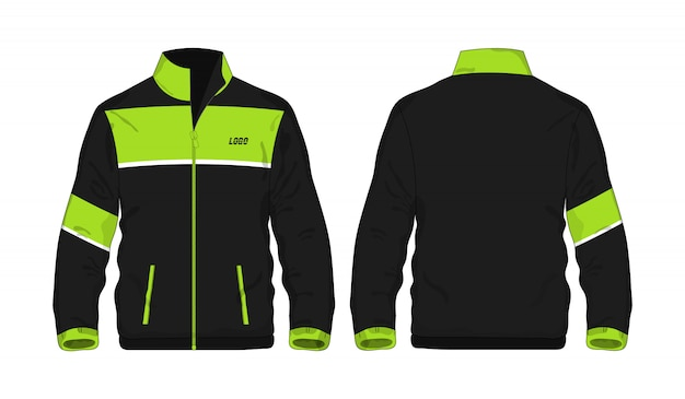 Sport jacket green and black template for design  .
