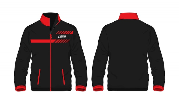 Sport jacket red and black t illustration