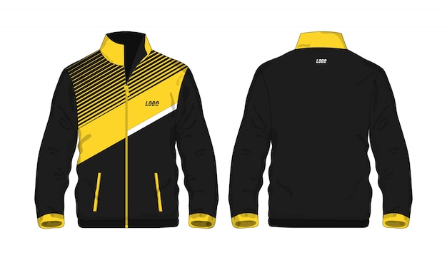 Sport jacket yellow and black t illustration