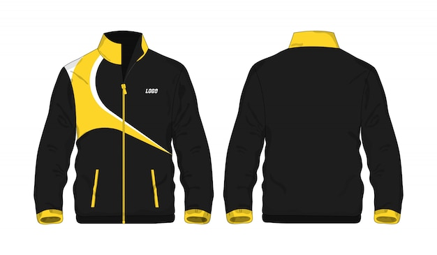 Sport jacket yellow and black template for design  .
