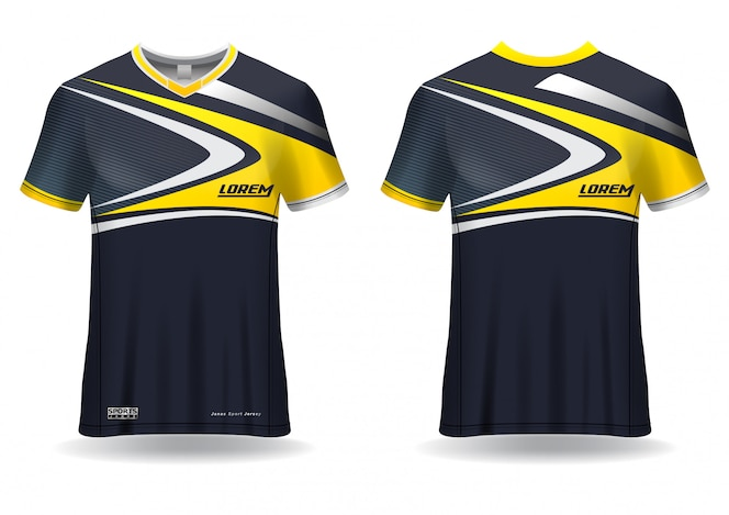 sport jersey template uniform front and back view