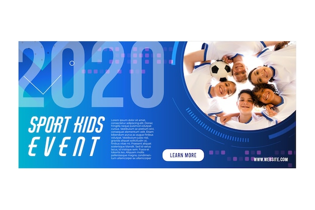 Sport kids event 2020 banner design