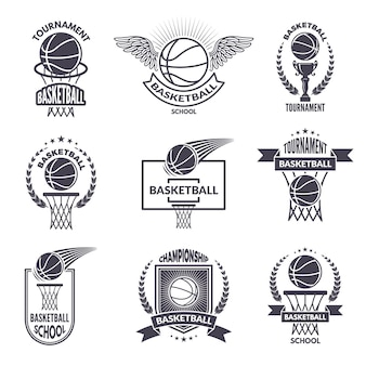 Sport labels for basketball club.
