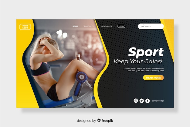 Sport landing page keep your gains
