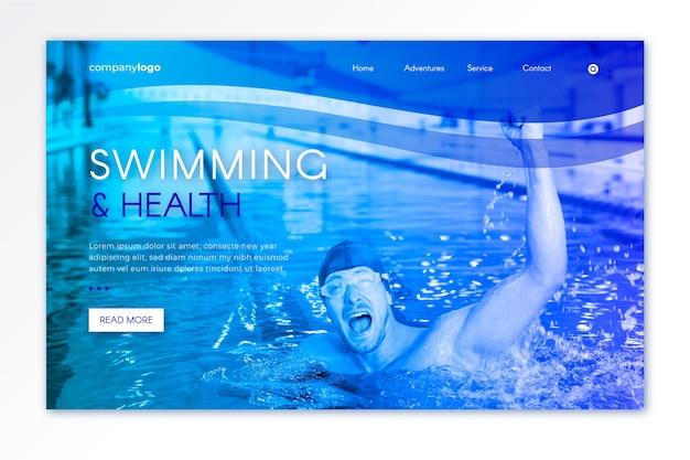 이미지가 포함 된 스포츠 방문 페이지 템플릿