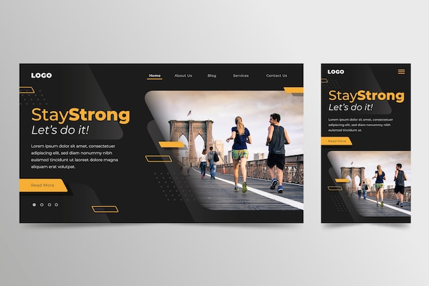 Sport landing page template