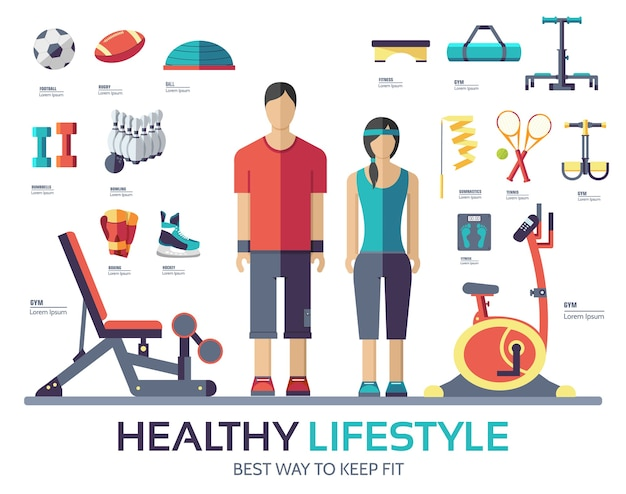 Sport life style infographic device equipment