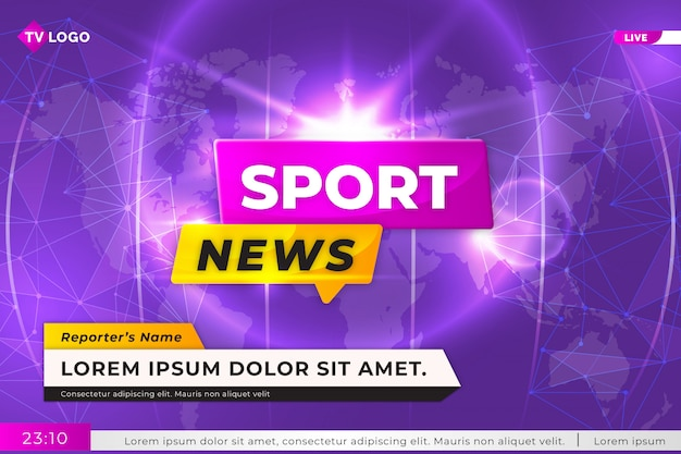 Sport live news tv background