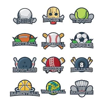 Sport logo illustration vector