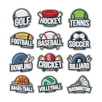 Sport logo illustration vector