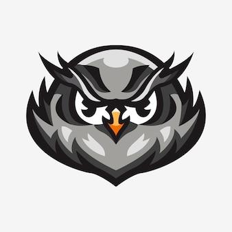 Спортивный логотип талисман иллюстрация совы