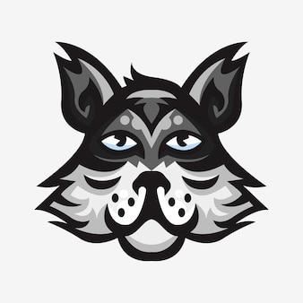 オオカミのスポーツロゴマスコットイラスト