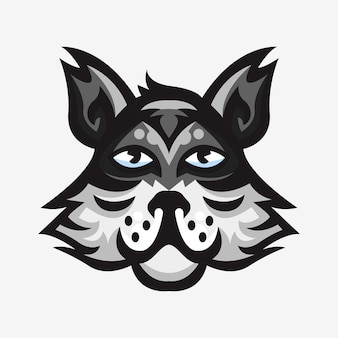 Sport logo mascot illustration of wolf