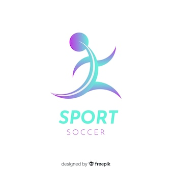 Sport logo template with abstract shape