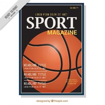 Sport magazine cover of basketball
