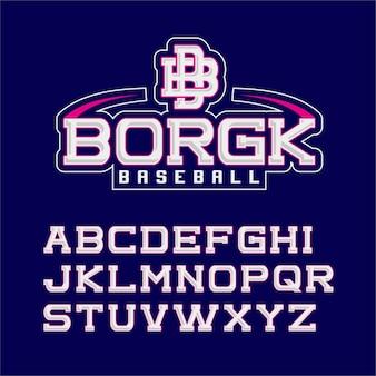 Sport modern classic font typography