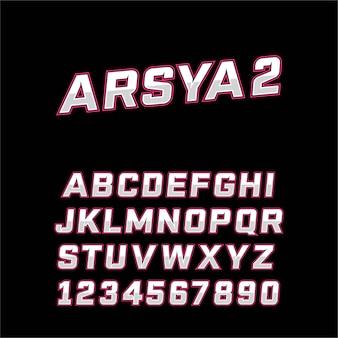 Sport modern font typography