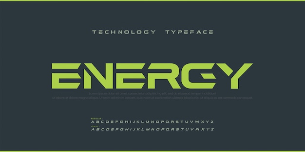Спорт modern future жирный шрифт алфавит. типография городских шрифтов обычного и курсивного стиля для технологии, цифровой, логотип логотип жирный стиль.
