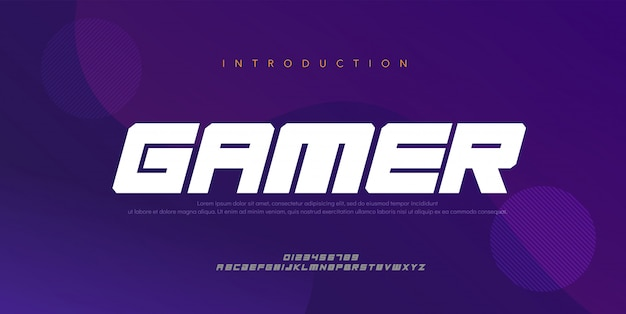 Sport modern future bold, italic alphabet font. typography digital style fonts