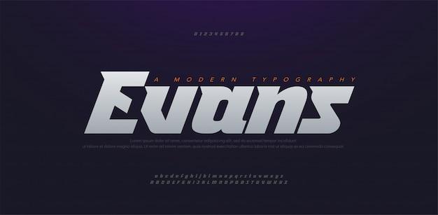 스포츠 현대 미래 굵게, 기울임 꼴 알파벳 글꼴. 타이포그래피 도시 스타일 글꼴