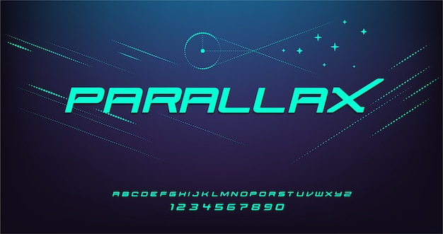 Спорт современный футуристический шрифт алфавит. типография шрифты городского стиля для технологии, цифровой, дизайн логотипа фильма.