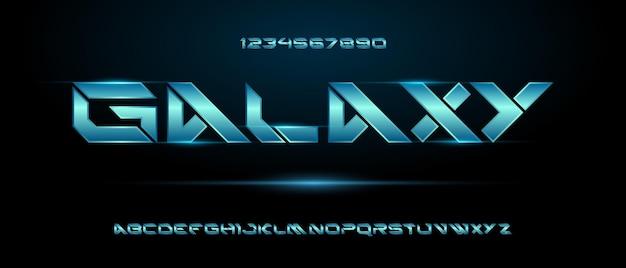 스포츠 현대 미래형 알파벳 글꼴. 기술, 디지털, 영화 로고 디자인을위한 타이포그래피 도시 스타일 글꼴