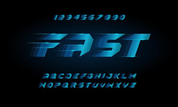 スポーツモダンな未来的なアルファベットのフォントです。