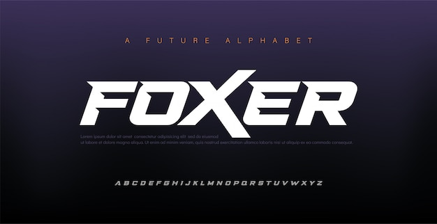 Sport modern italic alphabet font. typography urban style fonts for technology, digital, movie logo design.