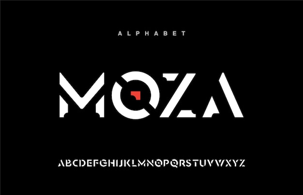 Sport modern urban alphabet fonts. typography, abstract technology, fashion, digital, future creative logo font.