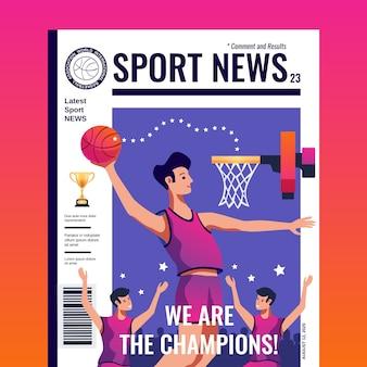 Sport news cover magazine