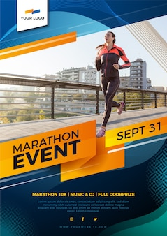 Sport poster design for marathon