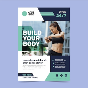 Sport poster template theme